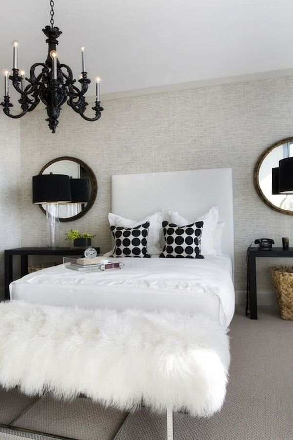 Id es de d co noir et blanc pour les chambres coucher for Black white and brown bedroom ideas