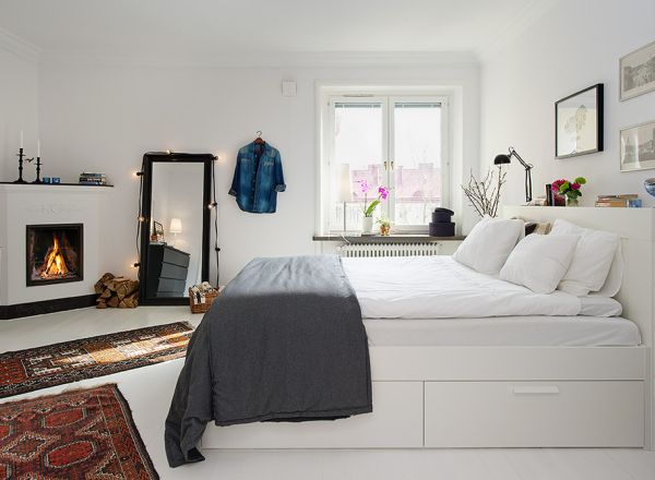 Chambre A Coucher Scandinave : Small Bedroom Design Ideas