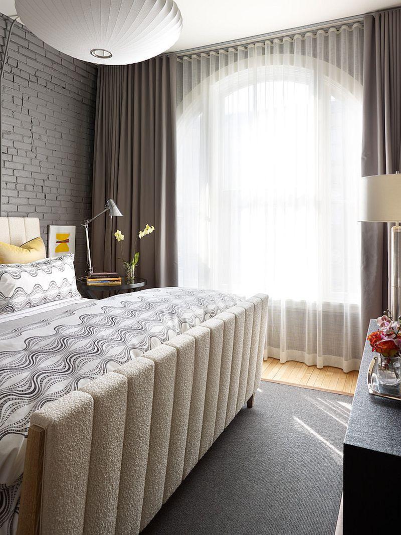 10 splendides chambres à coucher avec des murs en briques ...