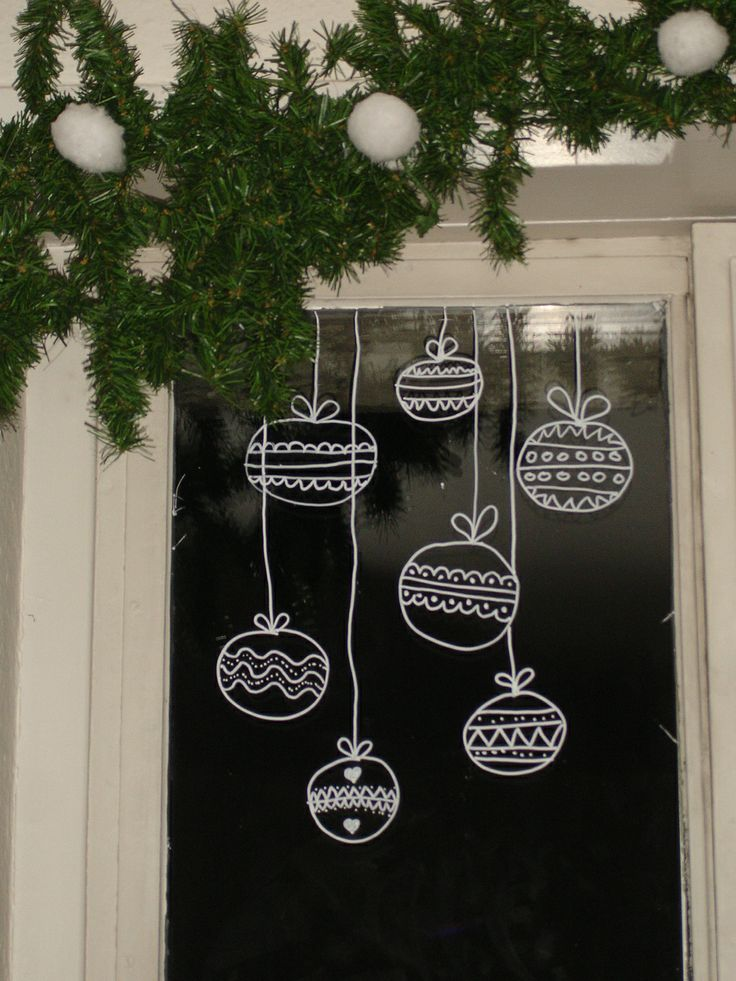 No l 7 d corations accrocher sur les fen tres bricobistro - Decoration de noel fenetre ...