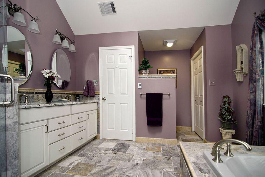 D co et couleurs comment utiliser le violet dans la salle for Mauve bathroom ideas