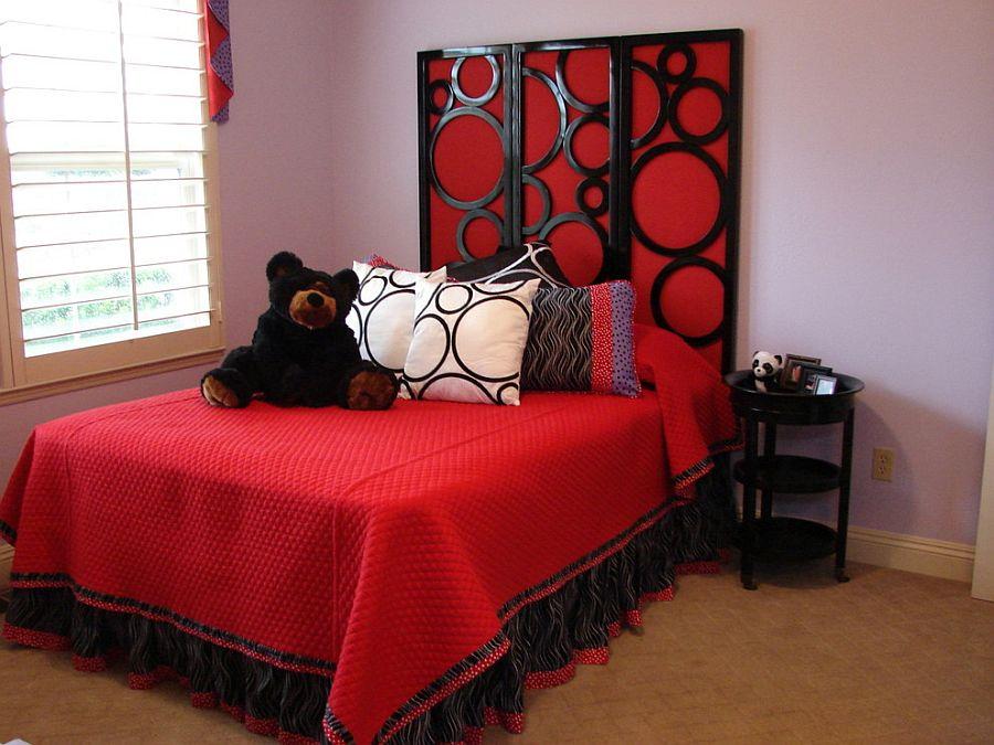 10 chambres d 39 enfants fascinantes rev tues de nuances de rouge bricobistro. Black Bedroom Furniture Sets. Home Design Ideas