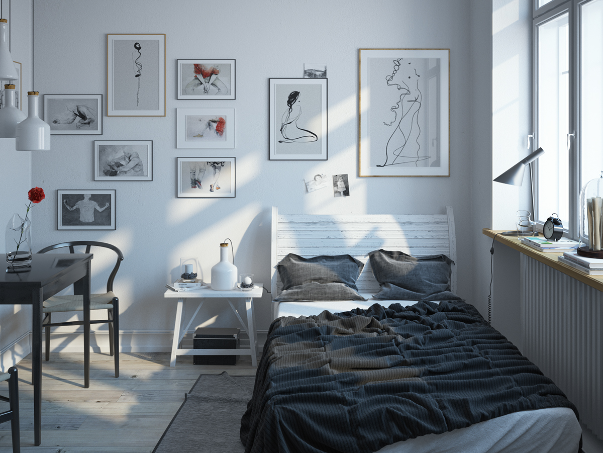 Chambre a coucher scandinave – lombards