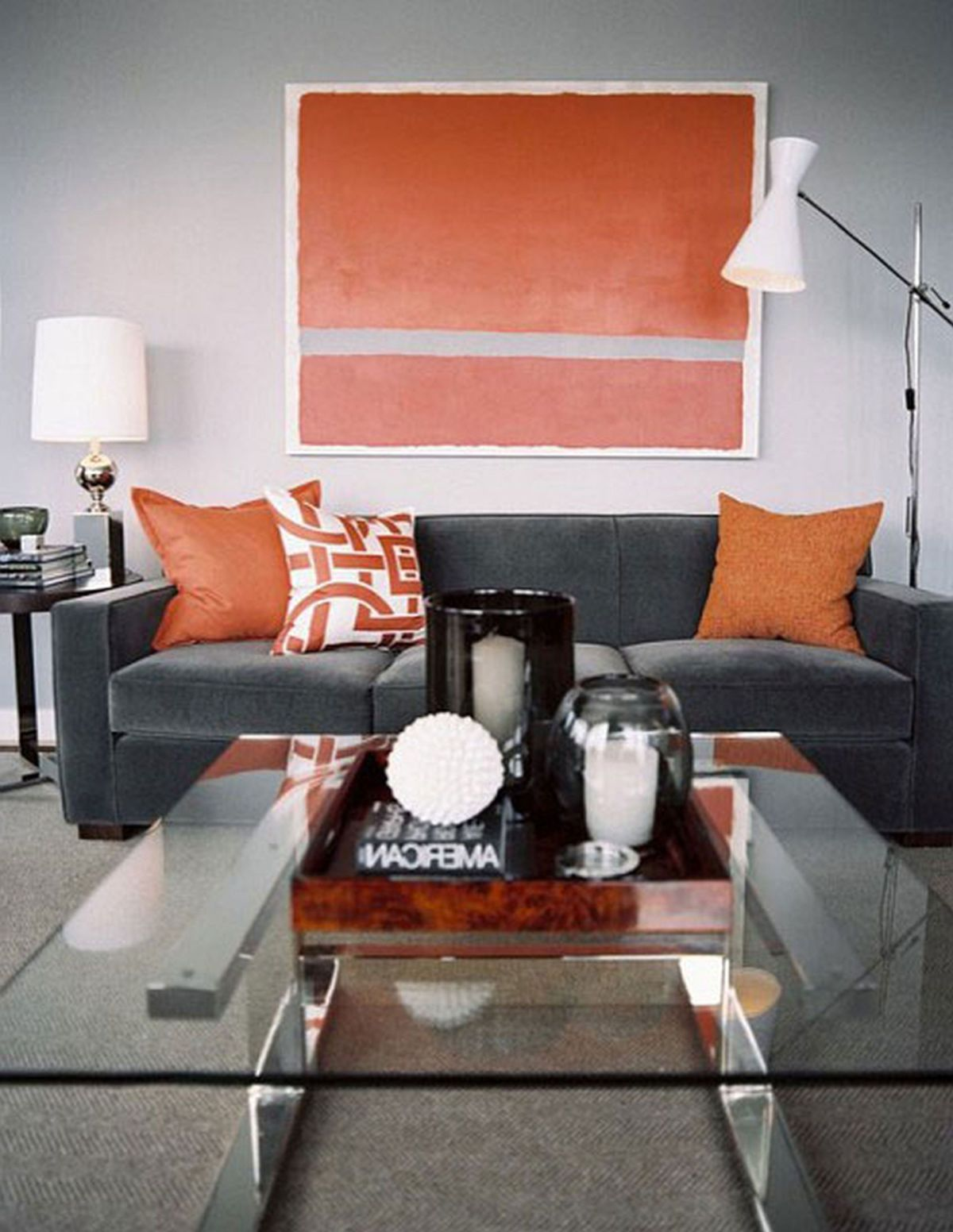 D co d automne comment utiliser l orange dans le salon - Black and orange living room ideas ...