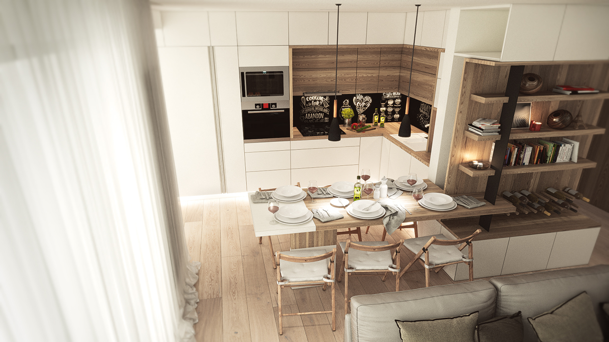Salle a manger style scandinave - Salle a manger bois clair ...
