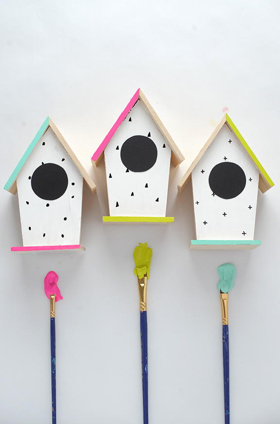 Nichoir En Bois A Peindre : Hand Painted Bird Houses Ideas