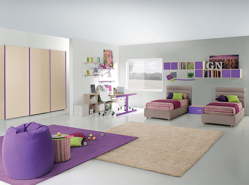 15 id es de chambres coucher mixtes et modernes pour vos enfants bricobistro. Black Bedroom Furniture Sets. Home Design Ideas