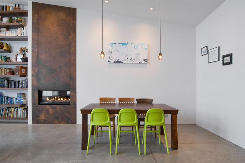 salle manger chaise verte9