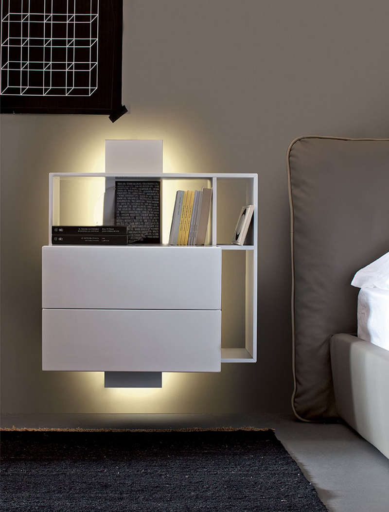 Modele De Chambre A Coucher Design : Wall Mounted Night Stand