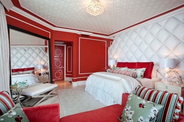chambre mur rouge4