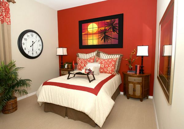 comment d corer une chambre avec des murs rouges bricobistro. Black Bedroom Furniture Sets. Home Design Ideas