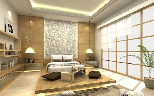 12 lits style japonais pour une chambre coucher contemporaine bricobistro. Black Bedroom Furniture Sets. Home Design Ideas