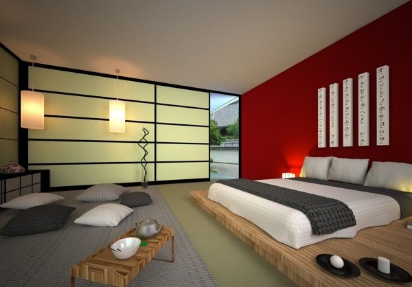 12 lits style japonais pour une chambre coucher. Black Bedroom Furniture Sets. Home Design Ideas