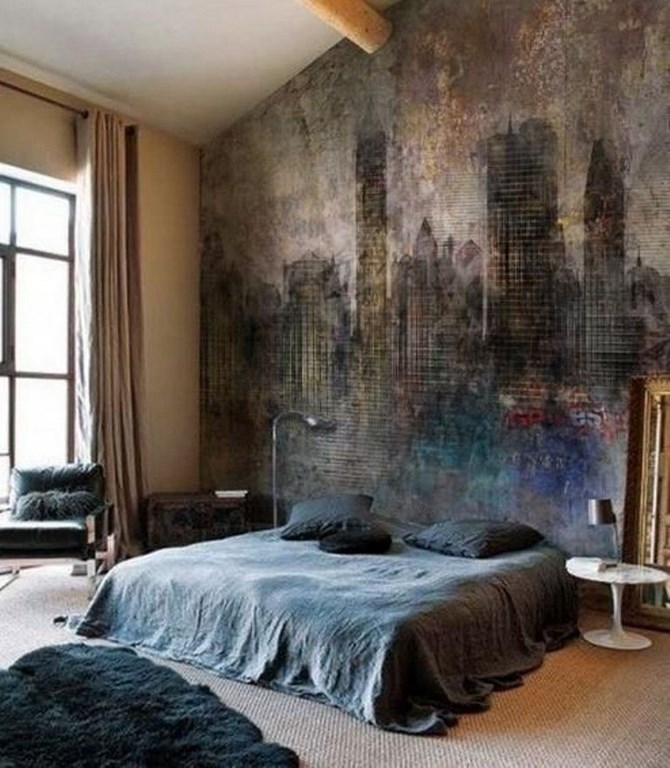 15 peintures murales inspirantes pour la chambre coucher bricobistro. Black Bedroom Furniture Sets. Home Design Ideas