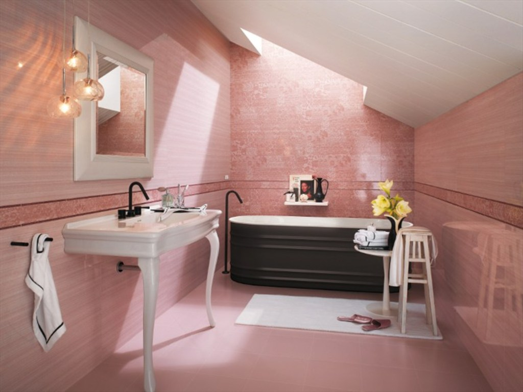 10 designs de salle de bain magnifique en rose bricobistro. Black Bedroom Furniture Sets. Home Design Ideas