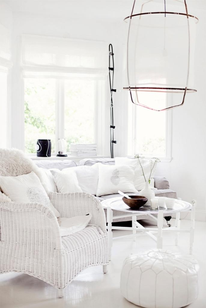 12 salons tout en blanc pour une ambiance totalement sereine bricobistro. Black Bedroom Furniture Sets. Home Design Ideas