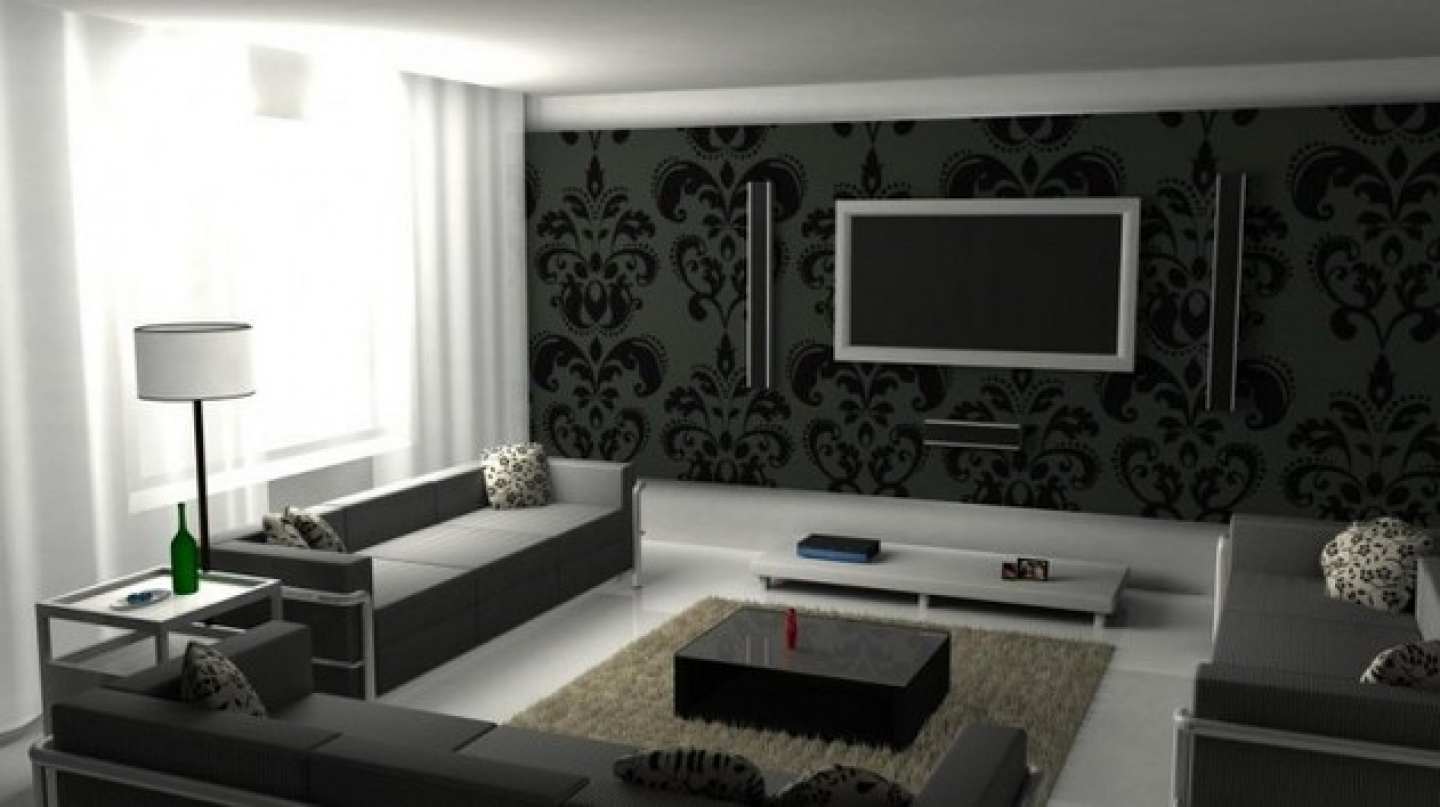 black and grey living room designs