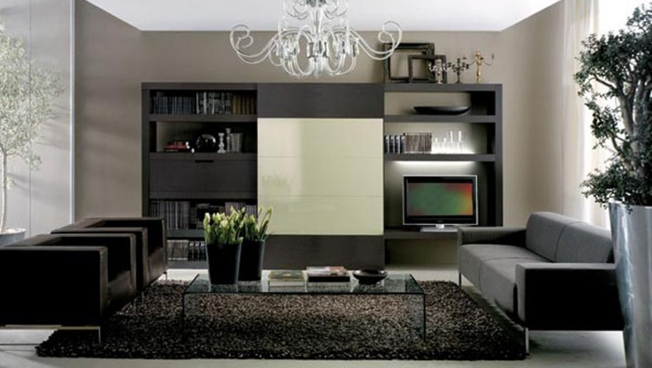 Salon moderne design gris