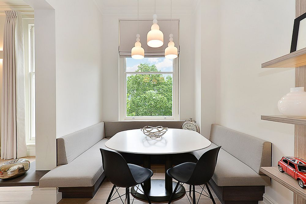 15 id es de banquette simple et raffin e pour une salle manger scandinave bricobistro. Black Bedroom Furniture Sets. Home Design Ideas