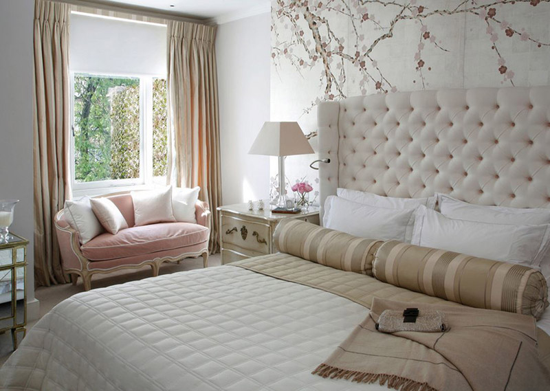 10 id es d co pour avoir une chambre l gante et apaisante for Pink and grey bedroom wallpaper