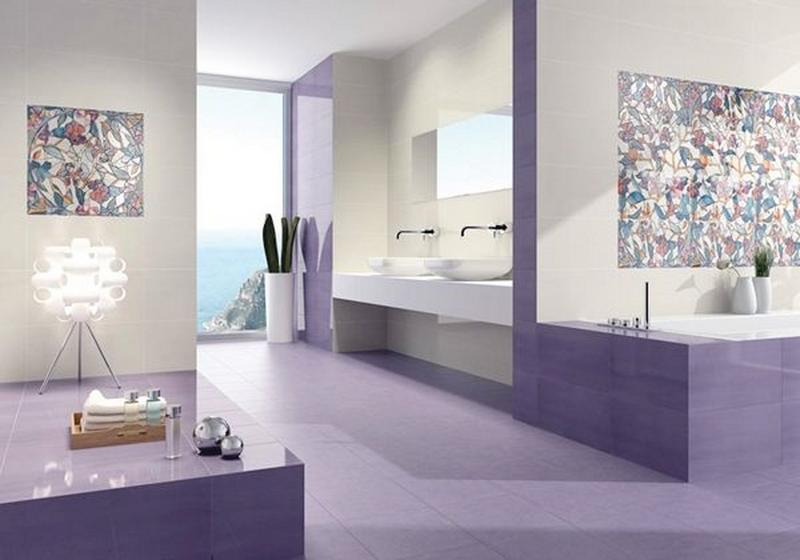 12 charmantes salles de bain d cor es en violet s. Black Bedroom Furniture Sets. Home Design Ideas