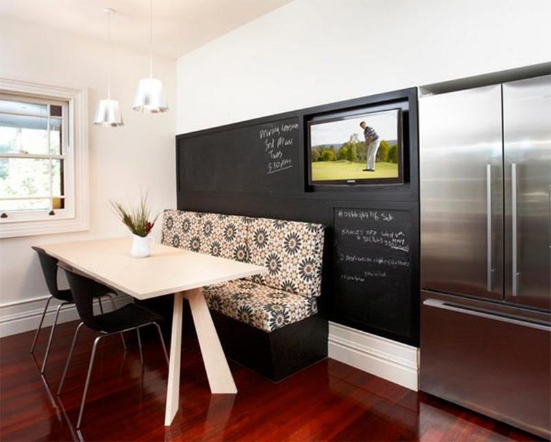 10 id es g niales pour ceux qui veulent peindre le mur de la cuisine avec de - Peinture ardoise cuisine ...