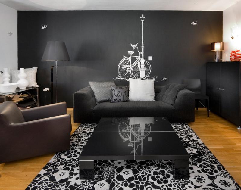 12 Superbes Decorations De Salon Avec Un Canape Noir Bricobistro
