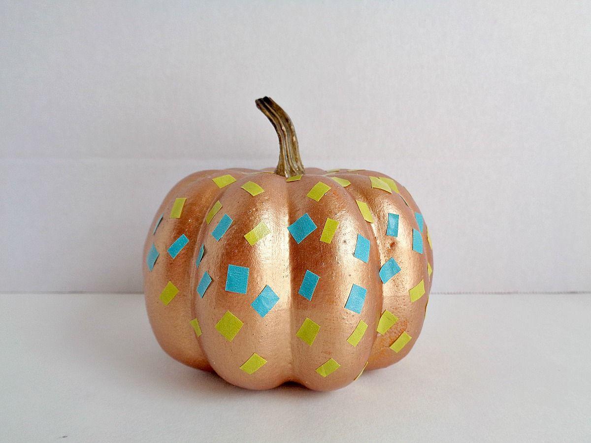 Diy comment d corer de fausses citrouilles avec du washi - Comment decorer pour halloween ...