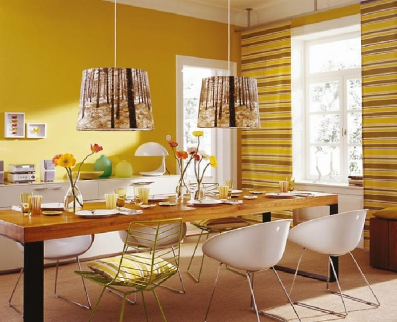 12 id es int ressantes pour d corer sa salle manger en jaune bricobistro. Black Bedroom Furniture Sets. Home Design Ideas