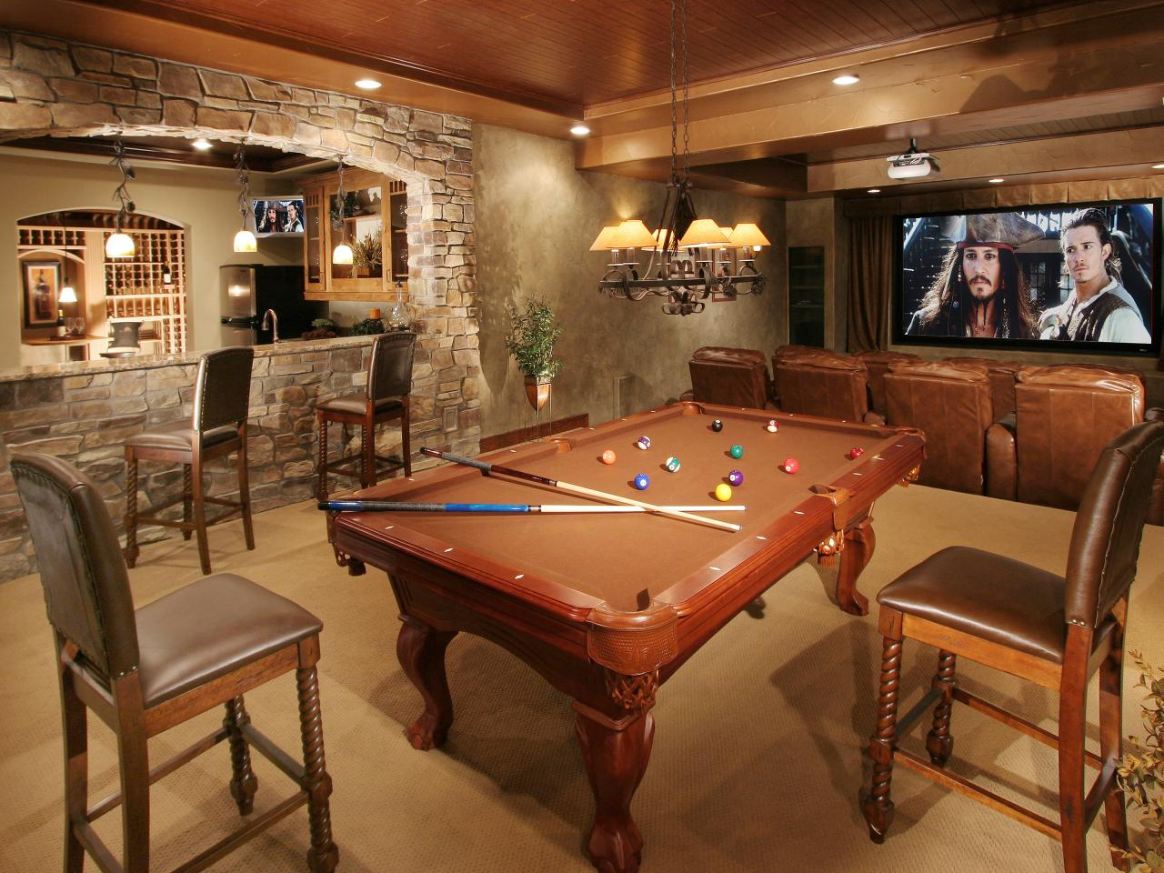 decoration salle de jeu billard. Black Bedroom Furniture Sets. Home Design Ideas