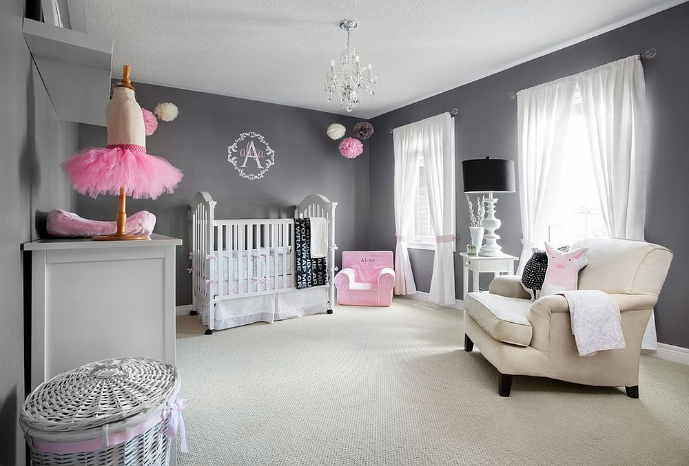 Beautiful Decoration Chambre Bebe Fille Gris Et Rose Gallery ...