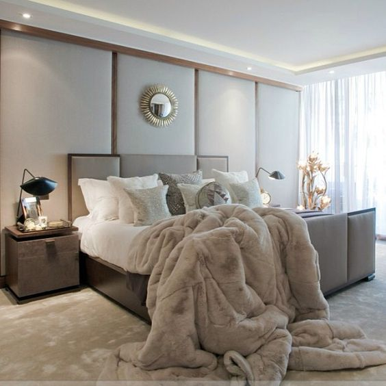 Chambre a coucher taupe