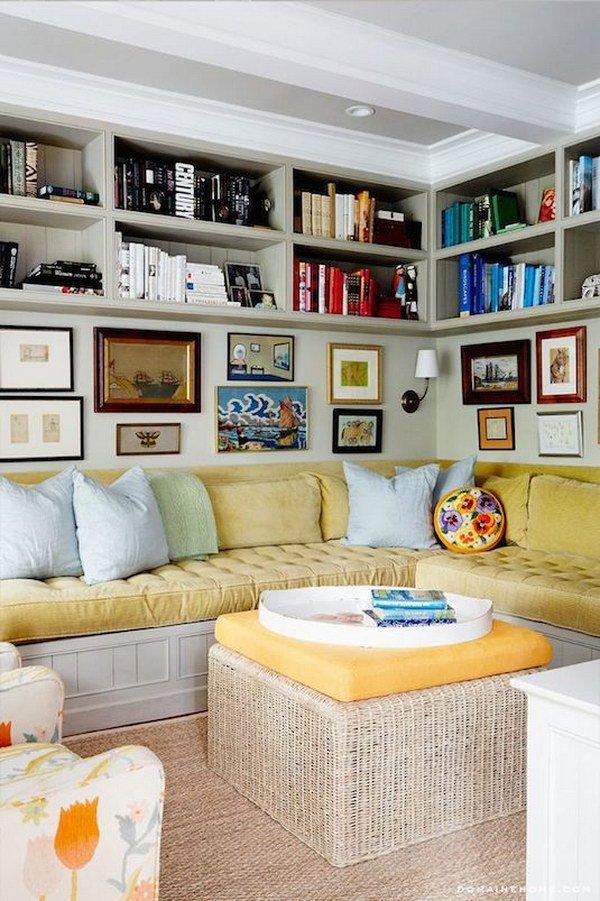 Comment occuper correctement l 39 espace derri re votre sofa - Etagere derriere canape ...