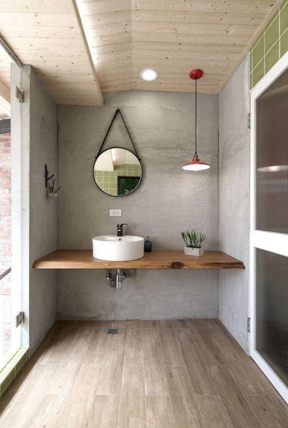 14 idées de meuble lavabo flottant pour une salle de bain ... on Small:j8V-Fokdwly= Bathroom Renovation Ideas  id=66505